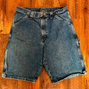 Men's Wrangler Carpenter Denim Shorts Size 30
